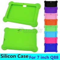 Wholesale mid android tablet china for sale - Group buy Anti Dust Kids Child Soft Silicone Rubber Gel Case Cover For quot Inch Q88 Q8 A33 Android Tablet pc MID shock resistant