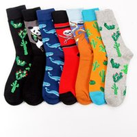 Wholesale Unisex Happy Socks Art Abstraction Creative Pattern original sock Fruit Pineapple Fashion Women Funny sock for Spring Winter