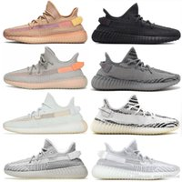Wholesale sport shoe key chains resale online - 2019 Clay chaussures Butter Cream White Beluga Kanye West Men women Running Shoes Designer Sports Sneakers With Box and Key Chain