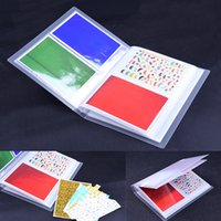 Wholesale translucent sticker resale online - Transparent Nail Sticker Water Decal Collecting Albums Translucent Storage Holder Nail Display Book Pages book