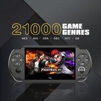 leitor de jogos de vídeo portátil venda por atacado-Video Game Console X9 Handheld jogador do jogo para PSP Game Retro 5,0 polegadas tela suporte a saída de TV com Mp3 Câmara de Filmar Multimedia