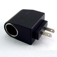 carregador de corrente alternada venda por atacado-EUA / UE AC / DC EE4104 110 V-220 V AC para 12 V DC EU Carro Conversor Adaptador De Alimentação Doméstica Carro Isqueiro Carregador De Energia Carregador HHA80