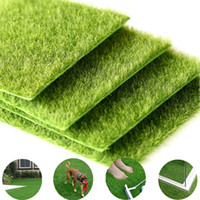 Wholesale fake grass turf resale online - Grass Mat Green Artificial Fake Lawns Turf Carpets Garden Ornament DIY Craft Artificial Lawn Grass for Wedding Party Decoration