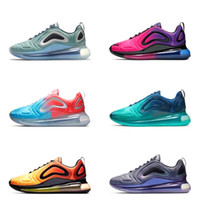 chaussures de badminton pour femmes achat en gros de-Nike Air Max 720 Hommes Femmes Chaussures De Course BE TRUE Jaune Triple Noir Blanc Hyper Bleu Volt Hommes Chaussures De Sport Designer Sneaker En Gros En Ligne