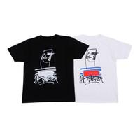 karakter mayo toptan satış-Kutu Logo Erkek T Shirt Mens Tasarımcısı T Shirt Moda Erkekler Kadınlar Gömlek Tişörtler Siyah Beyaz Boyut M-XXL
