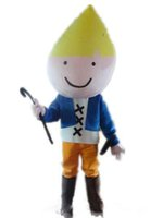 Wholesale movie costumes for sale for sale - 2019 Discount factory sale a thin boy mascot costume with a crutch for adult to wear