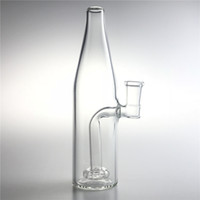 Wholesale recycler beaker bong online - 14mm Female Glass Bong Water Bongs with Inch Thick Pyrex Clear Beer Bottle Recycler Heady Beaker Bong for Smoking