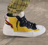 Wholesale design tennis shoes for sale - Group buy Sacai X Blazer Overlapping Design Avant garde Trailblazers Top Joker Shoes mens Sacai Toki Slip casual sports shoes