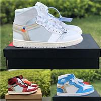 sıcak rahat sporlar toptan satış-Sıcak satış tasarımcı ayakkabı Erkekler için 1 S Erkek Casual ayakkabı 1 s Marka Spor Ayakkabı Eğitmen Beyaz Üniversitesi Mavi Chicago Womens Sneakers