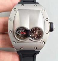 титановые спортивные часы оптовых-Швейцарский бренд высший сорт автоматический турбийон роскошный дизайн негабаритных мужские наручные часы титановые винты из нержавеющей черной резины Мужские спортивные часы