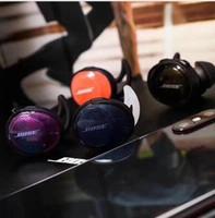 caja de embalaje de blackberry al por mayor-2019 para auriculares inalámbricos bose SoundSport Auriculares inalámbricos con caja de carga Auriculares Bluetooth Auriculares súper mini profundos con paquete minorista