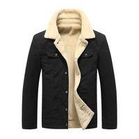Wholesale velvet clothing resale online - Mens Winter Jacket Men Casual Velvet Jacket Thick Warm Coat Breathable Coats Male Men Clothing Plus Size Asian Size