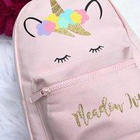 большие розовые подгузники оптовых-Популярная сумка для единорога, школьная сумка с рюкзаком Розовая сумка для рюкзака, рюкзак GirlBaby Рюкзак для подгузников - большая сумка с подгузниками с изолированными карманами и
