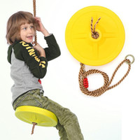 Wholesale games activities kids for sale - Group buy Children Swing Disc Toy Seat Kids Swing Round Rope Swings Outdoor Playground Hanging Garden Play Entertainment Activity Games