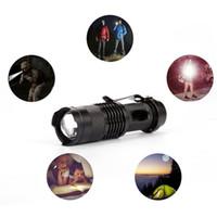 foco ajustable ultrafire linterna al por mayor-Epacket gratis, 5 colores de luz de flash 7W 300LM CREE Q5 LED Linterna de camping Antorcha Foco ajustable Zoom linternas impermeables Lámpara wcw646