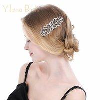 ingrosso ornamenti di cristalli-European Designs Wedding Wedding Accessori per capelli Strass Crystal Flower Bridal Hair Combs Wedding Jewelry Jewelry Ornaments