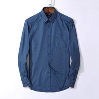 chemies schlanke passform großhandel-T-Shirt Herrenhemden Langarm Herrenhemd b0ss Markenkleidung Camisa Slim Fit Camisa Social Masculina Casual Chemise Homme