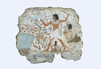 ägyptische seide groihandel-Ägyptisches Hieroglyphen-Nebamun-Grabmalerei 1350BC Art Silk Print Poster 24x36 Zoll (60x90 cm) 088