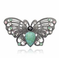 Wholesale sale mexican jewelry resale online - Butterfly Brooch Retro Stone Alloy Insect Pins Crystal Fashion Ornaments For Women Wedding Jewelry Clothing Accessories Hot Sale zj H1