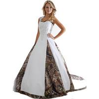 ingrosso pavimenti in catamena-Nuovi abiti da sposa Camo con applicazioni abito da ballo lungo abito da ballo lungo abito da ballo appliques