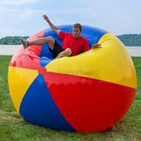 pelotas educativas inflables al por mayor-200 cm juguetes para aliviar el estrés gags bromas prácticas Inflable Playa de la piscina Jugar pelota Natación Niños PVC Juguetes educativos de agua suave