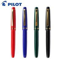 ручка золотая нить оптовых-PILOT 22K Gold Fountain Pen 1PCS FP-78G Set EF / F / M B Nib Optional Writing Fountain Pens Stationery Office School Supplies
