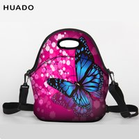 Wholesale baby red belt for sale - Group buy Lunch Bag Neoprene butterfly Lunch Tote bag With shoulder belt for Women Kids Baby Girls