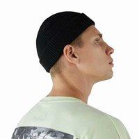 beanie şapkası kore tarzı toptan satış-BISI GORO 2019 bahar moda Skullies şapka katı sıcak Örme kadın erkek beanie Kore tarzı Çift elastik vintage siyah kapaklar