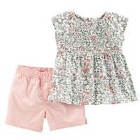 niños arco iris t shirts al por mayor-diseñador de ropa de bebé niña niños conjunto conjuntos mangas 100% de la muchacha del verano de algodón completa arco iris de flores camiseta + los niños cortos conjuntos de ropa