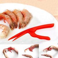 benutztes restaurant großhandel-Peeling Shrimp Tools 3 Schritte Schnelle Shrimp Peelers Seafood Restaurant Küche Seafood Tools Einfache Handhabung Peeling Shrimp Küchenzubehör