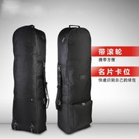 Wholesale golf cart sales resale online - Foldable Flight Bag Golf Ball Bags Monolayer Waterproof Portable Men And Women With Pulley Black Hot Sales xs C1