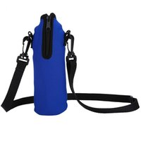 bolsa de soporte de la botella de agua deportes al por mayor-1L de botella bolsa de deporte al aire libre Ciclismo Agua Holder Bolsa térmica portátil de neopreno de agua bolsa de la caja con la cuerda
