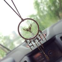 ingrosso giocattoli auto fatti a mano-Stile indiano Dreamcatcher Ciondolo auto d'epoca manuale netto Ornamento Handmade Wind Chime attaccatura di parete per bambini gioca il regalo Home Decor AAA883