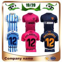 jersey azul 19 al por mayor-Camisa 2020 MALAGA camiseta de fútbol 19/20 azul casero malaguista JuanPi BLANCO Juankar fútbol Uniforme de fútbol R.SANTOS ONTIVEROS GONZALEZ ANOR