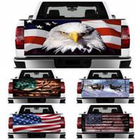 hava kanalları toptan satış-kamyon dekorasyon GGA1811 için Amerikan kartal İbne araba çıkartmaları Arka cam hava kanalı bant ABD Bayrağı hayvan desenli kamyon çıkartmalar