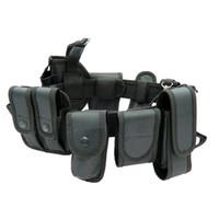 polizei setzt großhandel-Multifunktionale Sicherheitsgurte Taktische Trainingspolizei für den Außenbereich Guard Utility Kit Dienstgürtelgürtel mit Beutelsatz