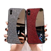 Wholesale iphone back up for sale – best Mirror make up Luxury bling bling Rhinestone Glitter phone case for iphone pro plus X XR XS MAX back case cover for girl women