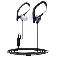 ingrosso cuffie a microfono-3.5mm Ear Hook Earphones In-Ear Cuffie auricolari in metallo con microfono per iPhone 8 X Samsung S8 S9