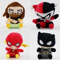 Wholesale anime avengers online - The Avengers Black Panther Plush Doll Superman Batman Flash Wonder Woman Super Hero Toy Soft Anti Wear fj I1