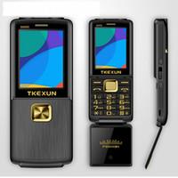 alte mans handys großhandel-8800i ein Schlüssel Dual Torch ein Schlüssel FM Bluetooth SOS Kurzwahl WhatsApp Senior Senior entriegelt Flip Metall Handy