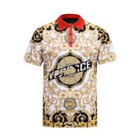 camisa elástica de los hombres al por mayor-M-XXXL polo bordado multicolor de gran tamaño diseño de moda para hombre manga acanalada fractura dobladillo estiramiento camisa de polo camisa masculina