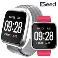 niños relojes deportivos a prueba de agua al por mayor-NUEVO para el iPhone de Apple teléfono inteligente Y7 aptitud pulsera del reloj del deporte del perseguidor impermeable del monitor de ritmo cardíaco Muñequera pk Versa