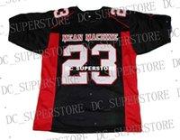 sayılar için makina toptan satış-Toptan Megget # 23 Ortalama Makinesi Yeni Futbol Forması Siyah Dikişli Özel herhangi sayı numarası ERKEK KADıNLAR GENÇLİK Futbol JERSEY