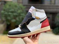diseño de zapatos de los hombres blancos al por mayor-Hombres de diseñador de moda de moda Zapatillas de deporte blancas con zapatillas de baloncesto para hombre Diseño de fragmento OG Origin Story Zapatillas de deporte para correr Púrpura