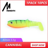 Wholesale soft lures shad for sale - MEREDITH New arrival JX62 Hot Model g cm Fishing Lures Soft Cannibal Shad D Fish Lifelike Lures Y18101002