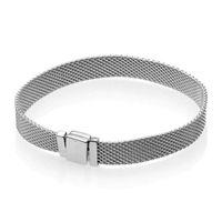 925 saat toptan satış-YENI Moda Saat Kayışı Kadınlar Pandora için El Zinciri Reflexions Bilezik 925 Ayar Gümüş Bilezikler