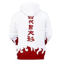 ingrosso 4xl anime hoodie-Yondaime Fourth Hokage Felpa con cappuccio Anime Naruto Cosplay Sweatshirt Namikaze Minato