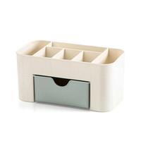 estantes cosméticos al por mayor-3 colores de moda Caja de almacenamiento de alta calidad para el hogar Estantes de escritorio Estuche de almacenamiento Maquillaje Organizador cosmético