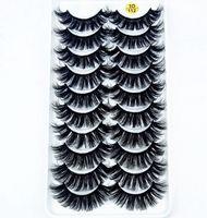 Wholesale lash extensions kits resale online - 2019 NEW pairs Real Mink Eyelashes D Natural False Eyelashes Mink Lashes Soft Eyelash Extension Makeup Kit Cilios