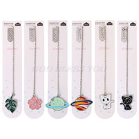Wholesale metal clip bookmark for sale - Group buy Cat Sakura Chain Marker Bookmark Page Clip School Supplies Stationery Student Gifts Office Book Marker Stationery
